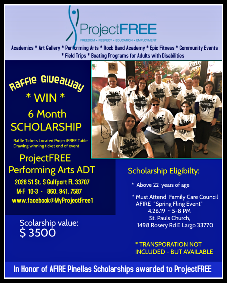 Scholarship Raffle! Come join us 4/26